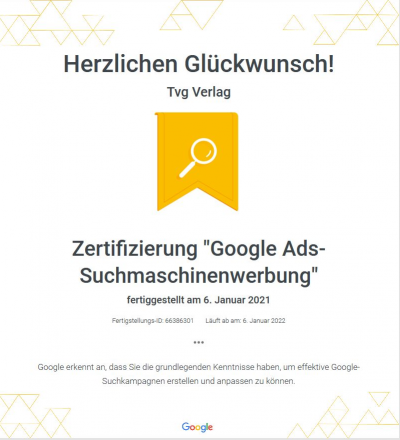 Google Ads Zertifizierung 2021